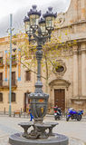 Street Lamp in Barcelona, Spain Stock Images