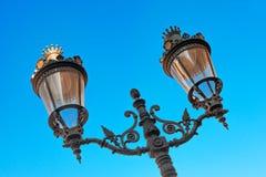 Street lamp in Barcelona Stock Images