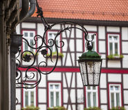 Street lamp on a beautiful decorative holder Stock Photos