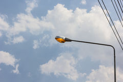 Street lamp. On blue Sky Royalty Free Stock Photography