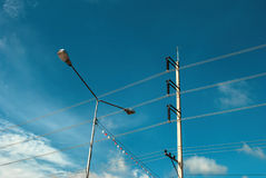 Street lamp. And blue sky Royalty Free Stock Photo