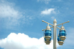 street lamp on blue sky Royalty Free Stock Image