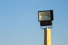 Street lamp on blue sky background. Royalty Free Stock Images