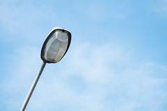 Street Lamp with Blue Sky Background Royalty Free Stock Photos