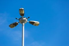 Street lamp on blue sky background Royalty Free Stock Photography