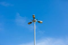 Street lamp on blue sky background Royalty Free Stock Photos