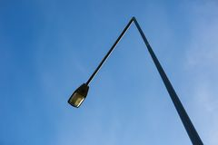 Street lamp on blue sky background Stock Images