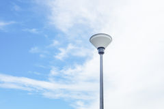 Street lamp and blue sky in the background Royalty Free Stock Photos
