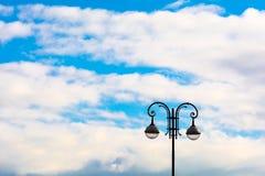Street lamp on blue sky background Royalty Free Stock Photos