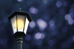Street lamp with bokeh background Royalty Free Stock Photography