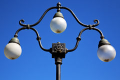 Street lamp a bulb in the   sky lugano Switzerland Stock Images
