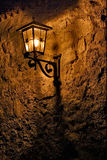Street lamp a bulb in the   wall fussen Stock Photo