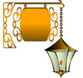 The Street lamp with candle Royalty Free Stock Photo