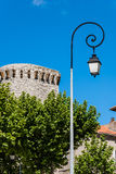Street lamp and castle Royalty Free Stock Photo