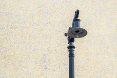 Street lamp in the city. Street lamp against the wall Stock Photo