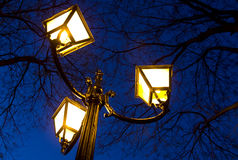 Street lamp close-up Royalty Free Stock Image