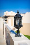 Street lamp close up against the sky Royalty Free Stock Photo