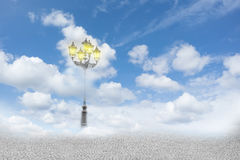 Street lamp in the clouds Royalty Free Stock Photography