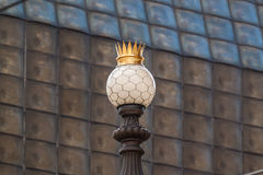 Street lamp with a crown Royalty Free Stock Images