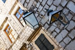 Street lamp in Dubrovnik. Royalty Free Stock Photo