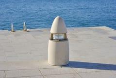 Street lamp on embankment Royalty Free Stock Photo