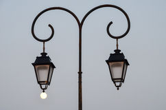 Street lamp in the evening Royalty Free Stock Image