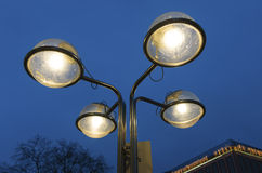 Street lamp in evening Royalty Free Stock Photo