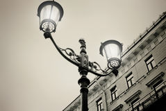Street lamp. Evening in St. Petersburg. Retro effect Royalty Free Stock Image