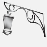 Street lamp on the forged bars-vector illustration Stock Photo