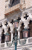 Street lamp in front of  Doge's Palace Stock Photos