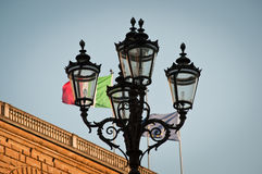 Street lamp in the front of Pitti palace in Florence Royalty Free Stock Photography