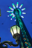 Street lamp in the funfair Stock Images