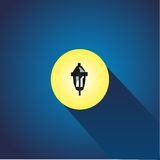 Street lamp icon. Flat illustration of street lamp  icon for web Stock Images
