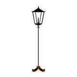 Street lamp icon image Royalty Free Stock Photo