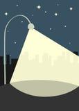 Street lamp illuminates the sidewalk. Vector street lamp illuminates the sidewalk royalty free illustration