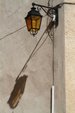 Street lamp and its shadow Royalty Free Stock Photography