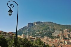 Street lamp in the Kingdom of Monaco Stock Photo