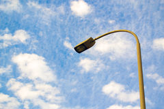 Street lamp. S against clouds Royalty Free Stock Image