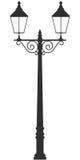 Street lamp light  outline silhouette Royalty Free Stock Photo