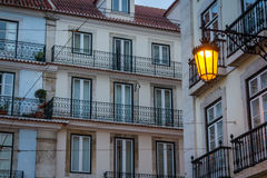Street lamp. In Lisbon, Portugal Stock Images