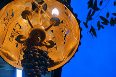 Street lamp made of metal Stock Images