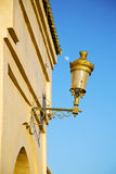 street lamp in morocco africa old lantern  moon Royalty Free Stock Photo