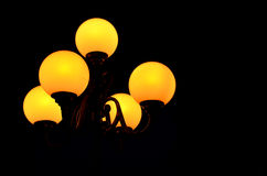 Street lamp in the night dark Stock Photos