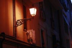 Street lamp. A street lamp at night. Summer night in Europe Royalty Free Stock Image