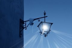 Street lamp in the night Royalty Free Stock Images
