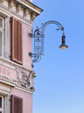 Street lamp on an old building. Street lamp on an old building in Zurich old town center Stock Photography