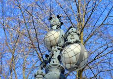 Street lamp in the old style. Royalty Free Stock Image