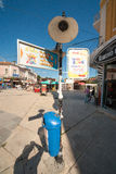 Street lamp in the old Varna in Bulgaria Royalty Free Stock Photos