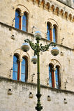 Street lamp with old wall Royalty Free Stock Photography