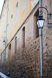 Street lamp in outside photo Stock Images